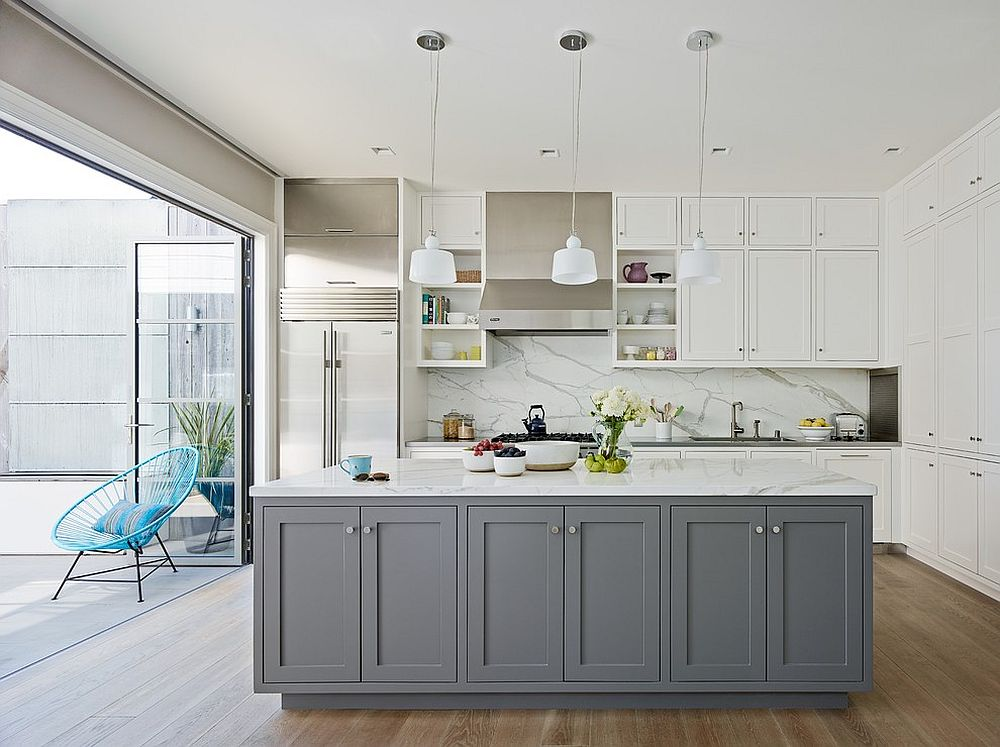 Classic And Trendy 45 Gray And White Kitchen Ideas