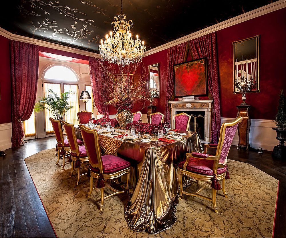 Small White Dining Table Luxury All The Way: 15 Awesome Dining Rooms Fit For Royalty!