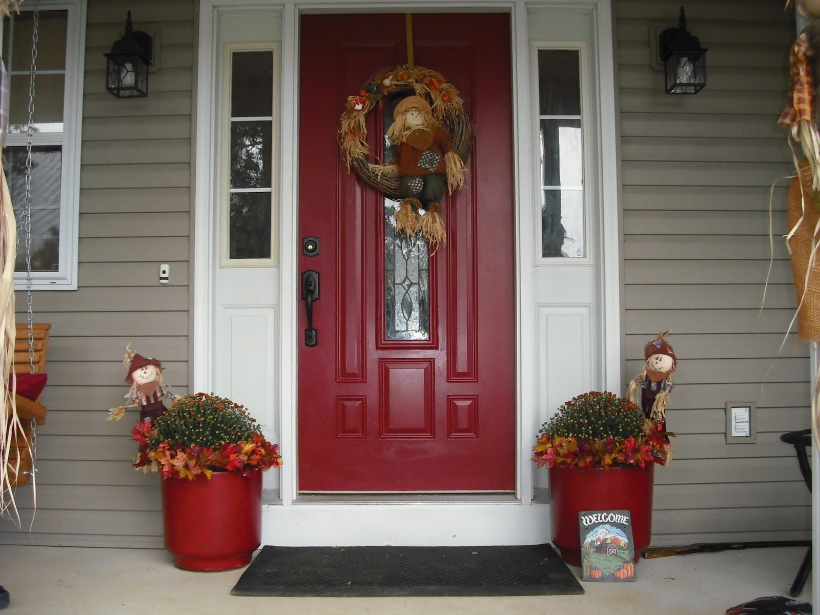 Red front door brown house - Front Door Color Red Noticeable And Vibrant Download