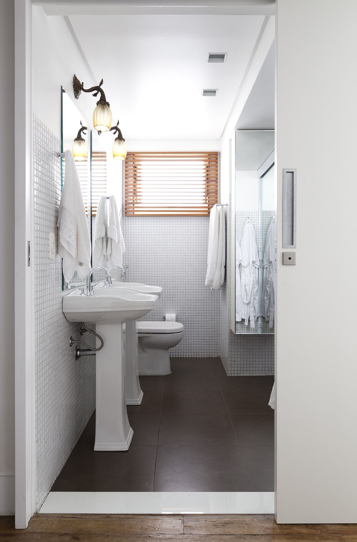 bathroom view in gallery space savvy modern