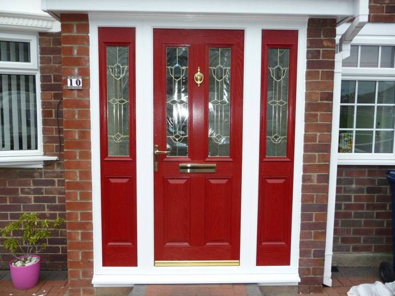 Breathtaking Red Front Doors Red Front Door Black Shutters Red Front