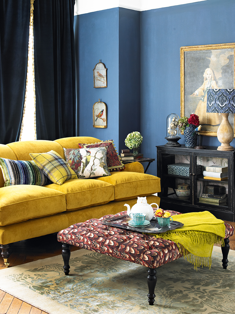 Cojines Amarillo Mostaza Yellow Sofa: A Sunshine Piece For Your Living Room!