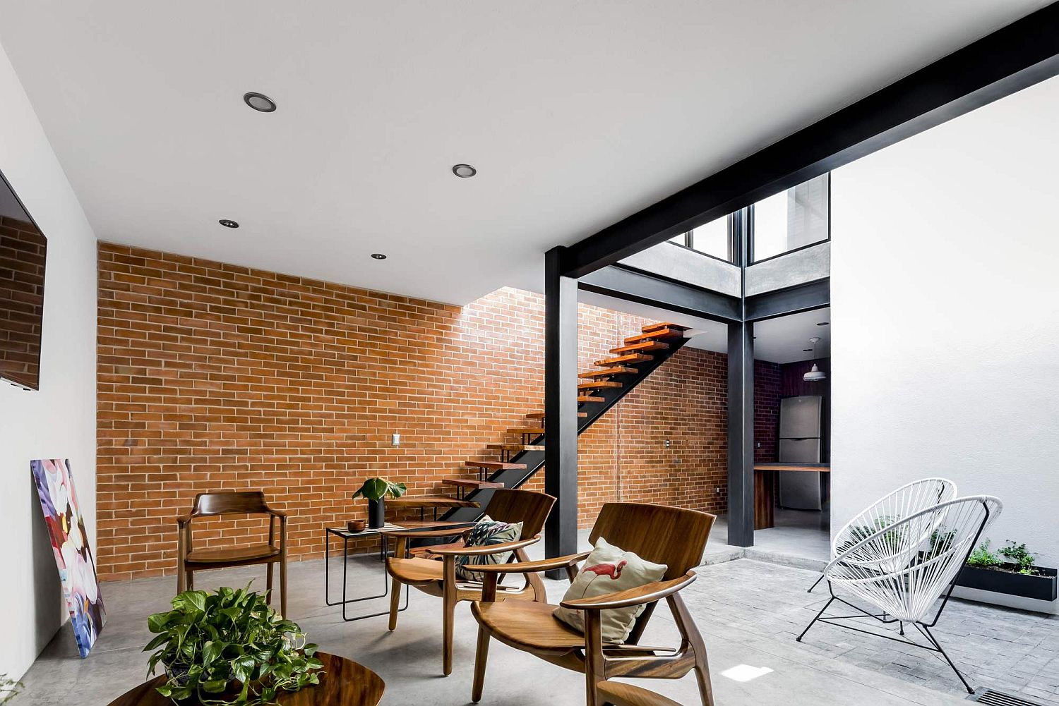 Brick Wall Design Exposed Brick Walls Steal The Show In This Modern Industrial Home