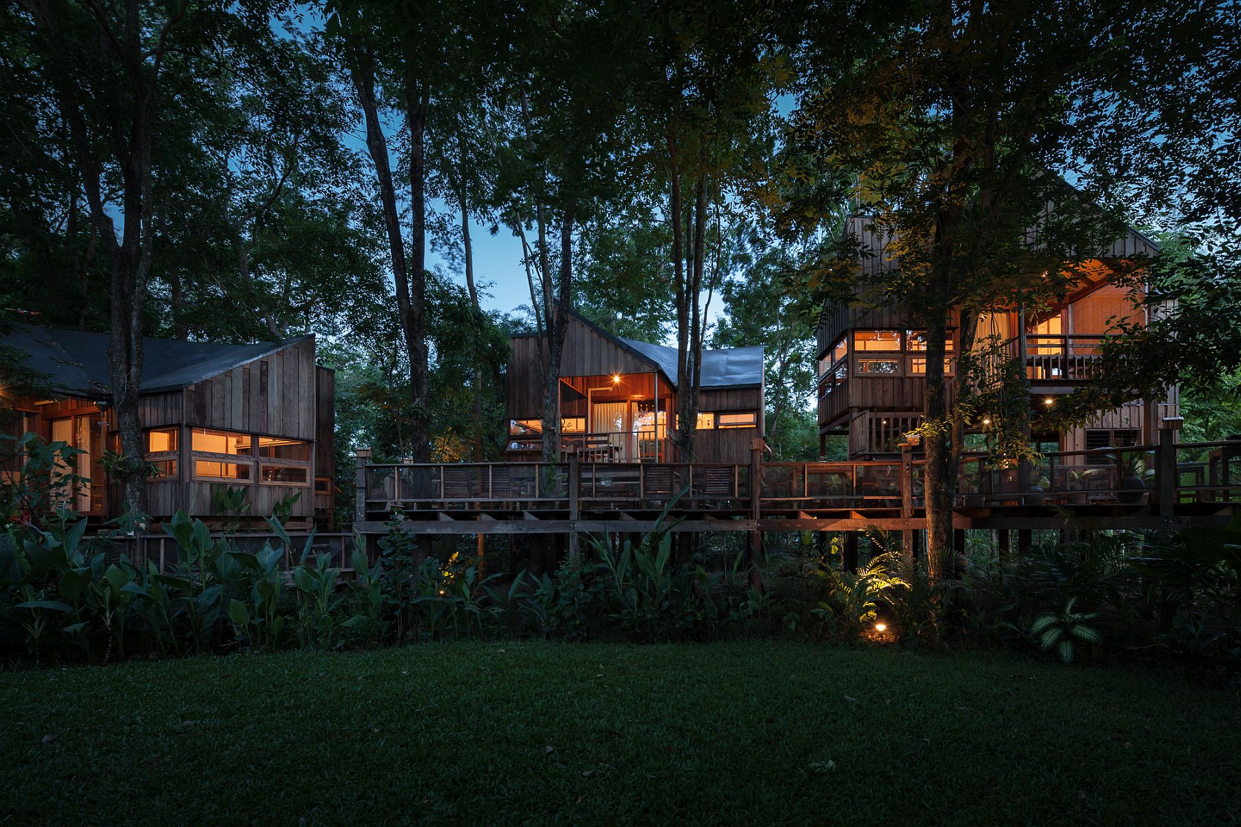 Houses In The Forest Backyard Jungle Stunning Eco Friendly Homes Engulfed In