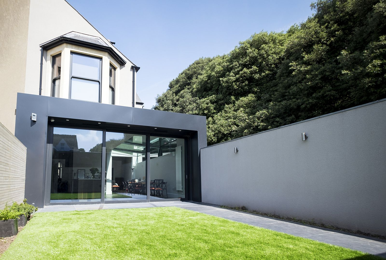 Glass Roof Extension Modern Revamp Involving A Glass Roof Transforms This Dark