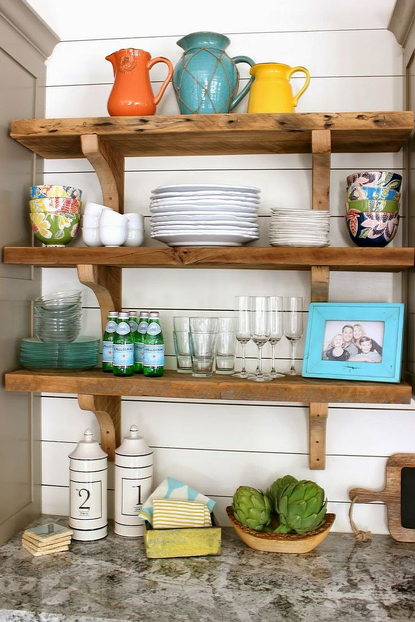 Country Kitchen Shelves 20 Rustic Kitchen Shelving Ideas With Timeless Rugged Charm