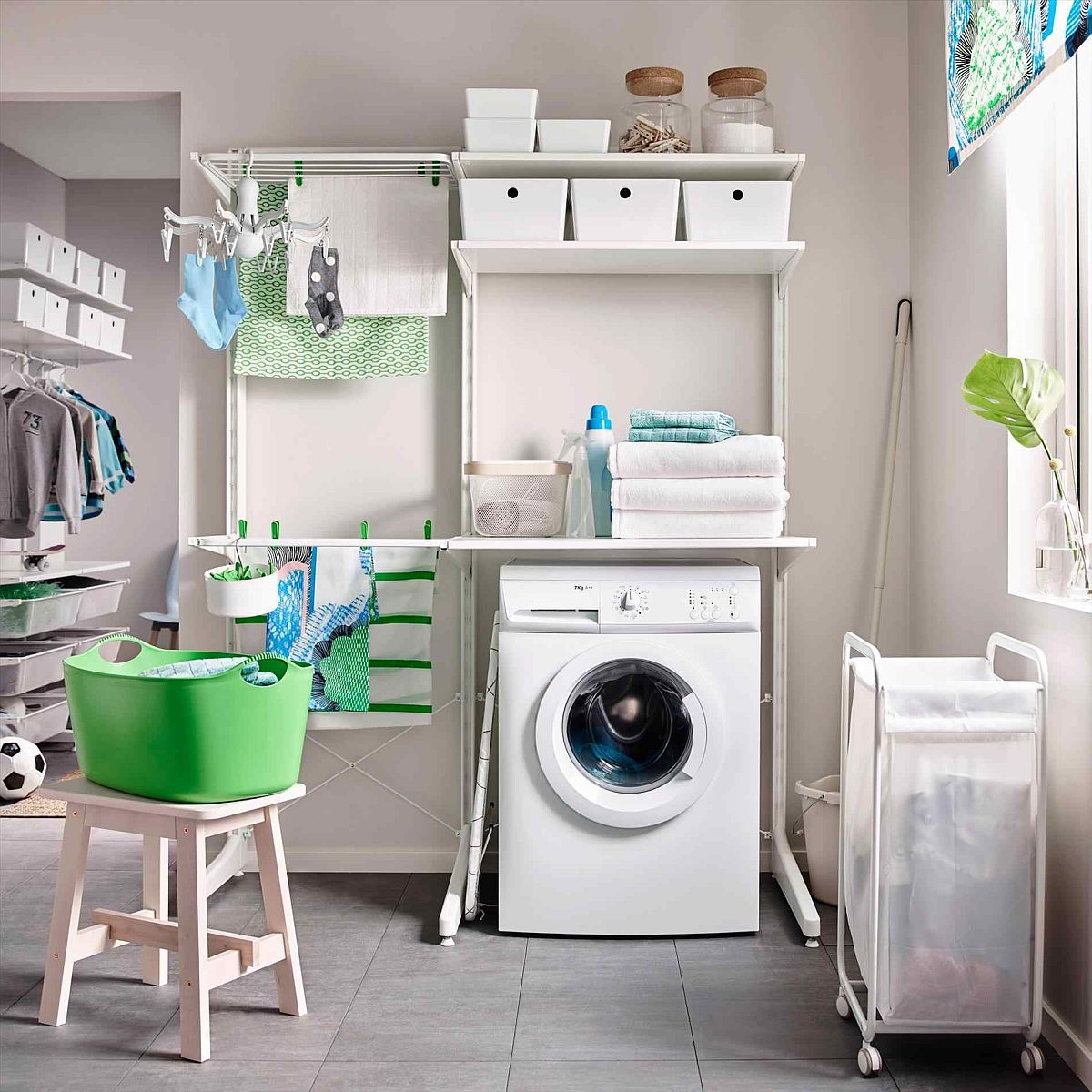 Cool Laundry Hamper Laundry Room Carts 12 Mobile And Space Savvy Ways To