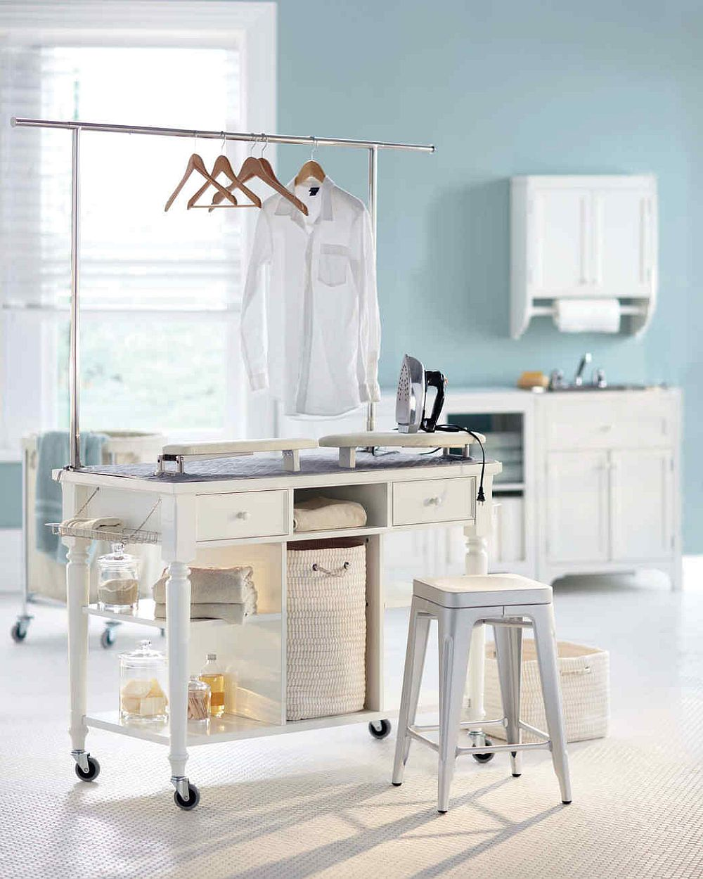 Ironing Board Cabinet Ikea Laundry Room Carts: 12 Mobile And Space-savvy Ways To