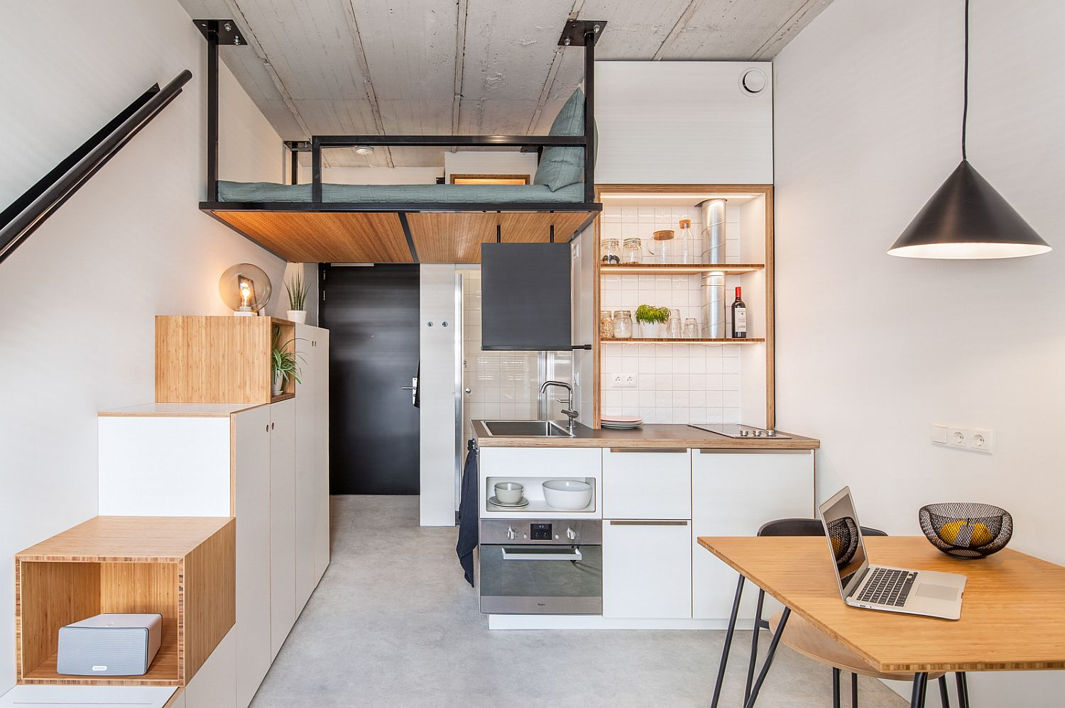 Loft Bed For Studio Apartment Tiny 18 Sqm Apartment Offers Student Housing With Space
