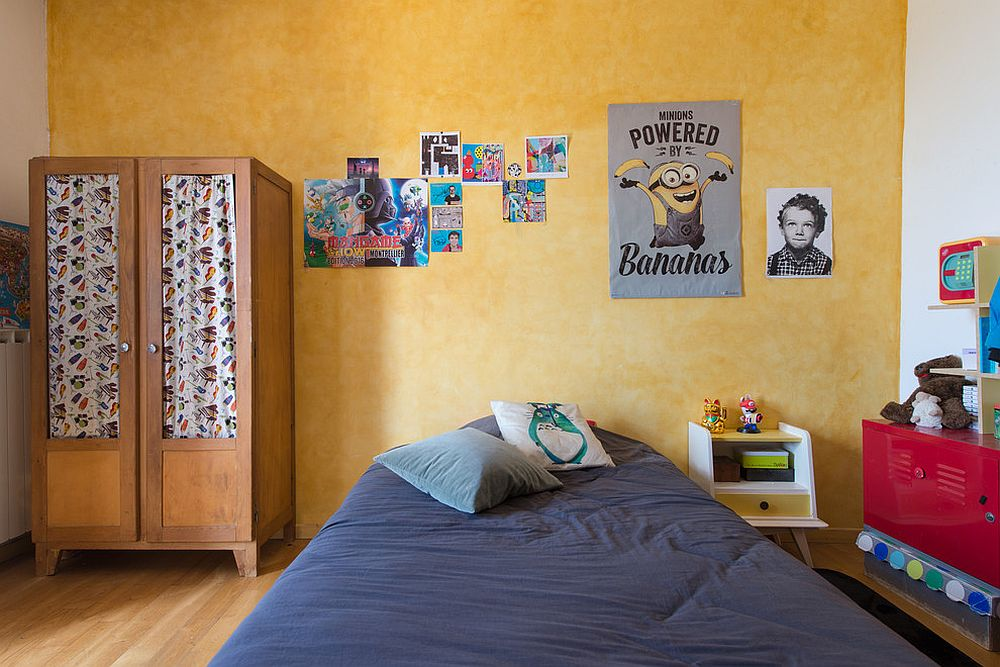 How To Add Yellow To The Eclectic Kids Bedroom In