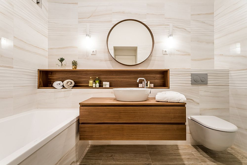 Holz Bad 25 Wood And White Bathrooms For A Trendy, Relaxing Shower