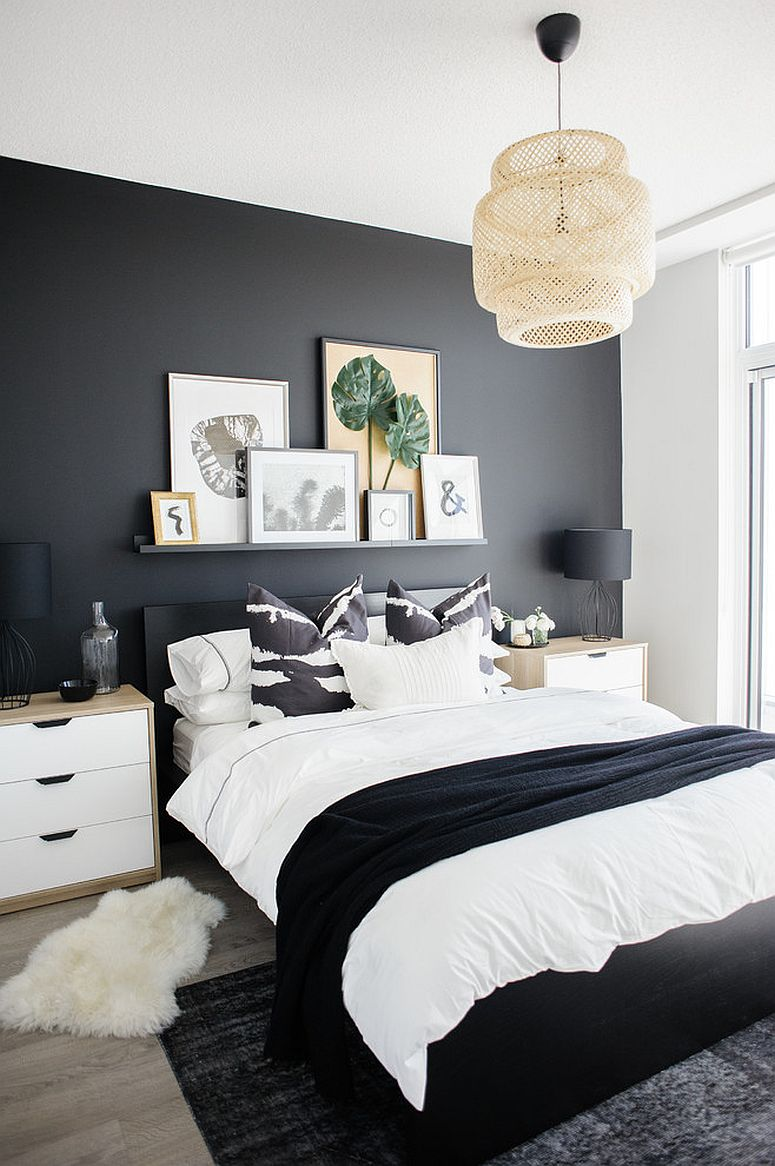 Black Accent Walls Dark And Dramatic Give Your Bedroom A Glam Makeover With Black