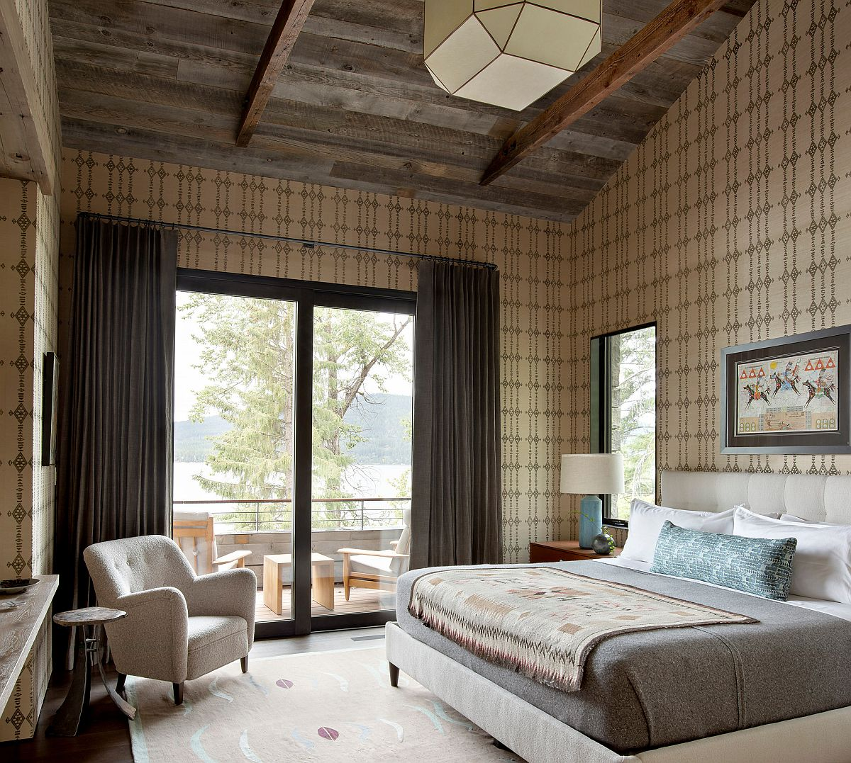 Rustic Bedrooms With Pattern Ideas That Combine Modernity With Comfort