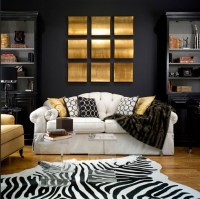 Black and Gold living Room - Contemporary - living room ...