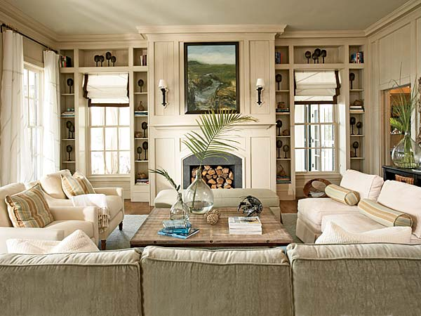 Living Room Built In Cabinets Design Ideas - photos of living rooms