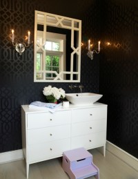 black and white wallpaper for bathrooms 2017 - Grasscloth ...