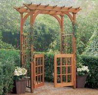 Montauk Wooden Arched Gated Garden Arbors