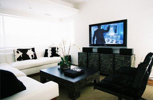 Black And White Living Room Design Ideas - black and white living rooms