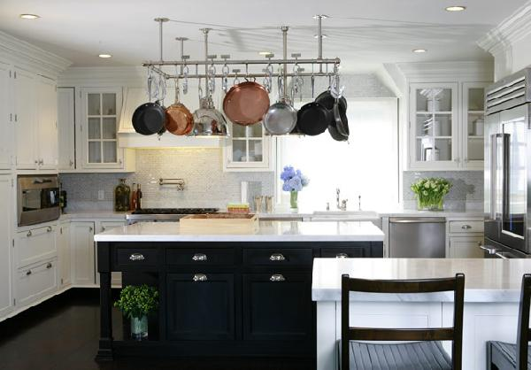 Wood Tops For Kitchen Islands Black And White Kitchen - Transitional - Kitchen - Nathan Egan