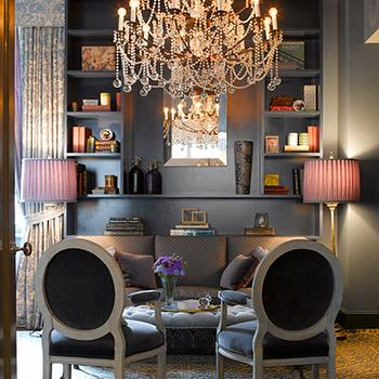 Purple And Gray Chairs Design Ideas