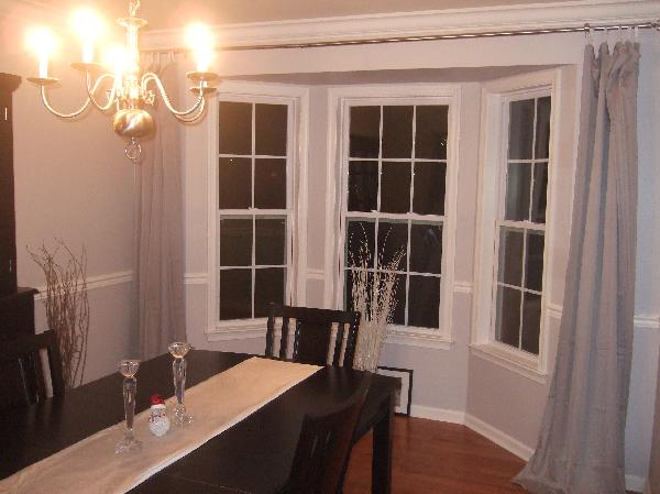 Black And White Wallpaper Decor Dining Room Behr Manhattan Mist