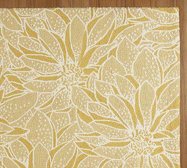 Beautiful Girl Bedroom Wallpaper Yellow Daisy Hooked Rug