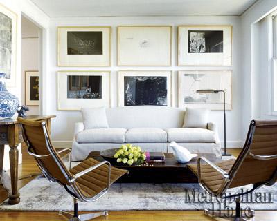 Slipcovered Camelback Sofa - Contemporary - living room - Elle Decor - elle decor living rooms