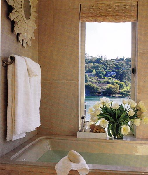 Asian Girl Wallpaper Zen Bathroom Mediterranean Bathroom Elle Decor