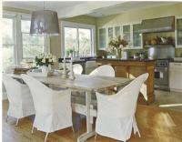 Gray Wood Dining Table - Cottage - dining room