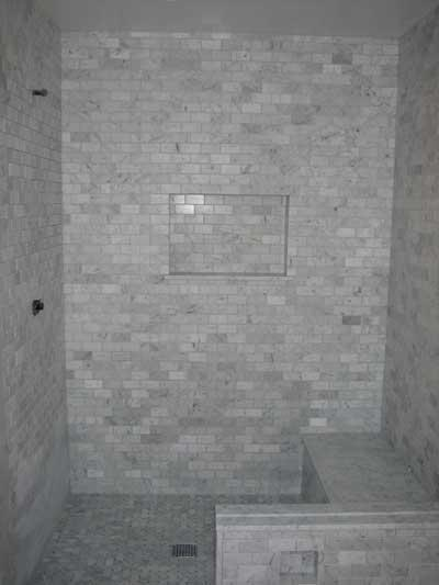 Black Trellis Wallpaper Bathroom