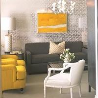 Gray and Yellow Room - Contemporary - living room - Kelly ...