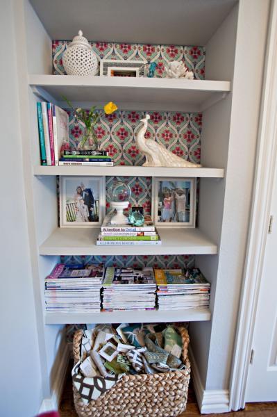 Bookshelf Nook - Contemporary - den/library/office - Benjamin Moore stonington gray - Studio Ten 25