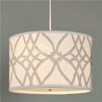 Trellis Linen Drum Shade Pendant - Shades of Light