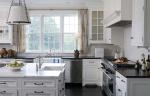 Black White Kitchen Cabinets With Granite Countertops