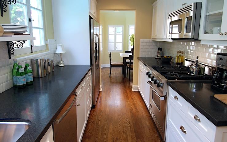 White Galley Kitchen - Modern - Kitchen