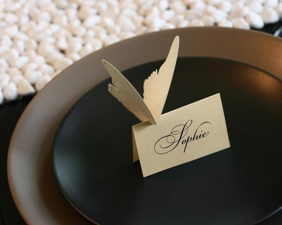 SALE Butterfly Place Cards tent style by TimelessPaper on Etsy