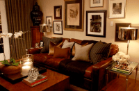 Masculine Living Room - Transitional - living room - Scot ...