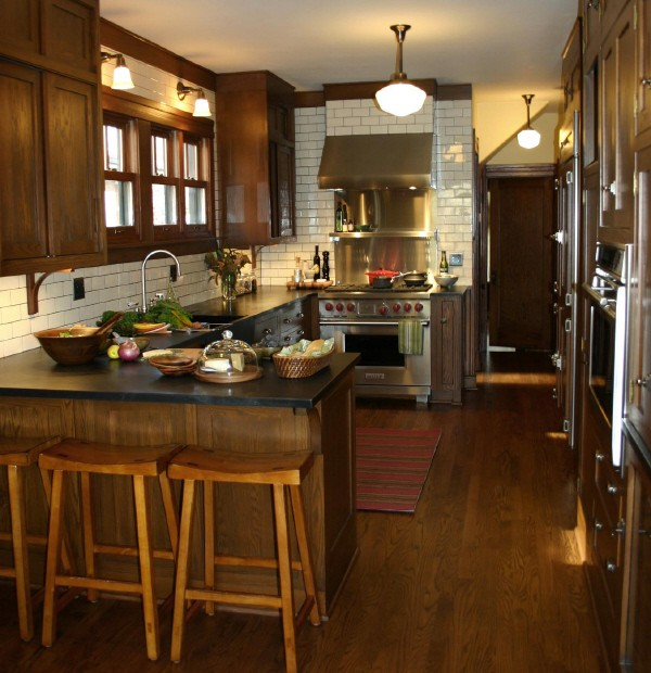 Soapstone Kitchen Island Oak Kitchen Cabinets - Transitional - Kitchen - Kitchen Lab
