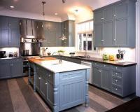 Blue Gray Kitchen Cabinets Design Ideas