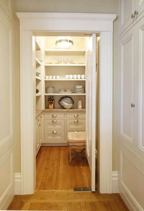 Pendant Lighting White Kitchen Walk In Pantry - Traditional - Kitchen - Gast Architects