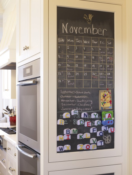 Frosted Glass Kitchen Cabinets Kitchen Chalkboard - Cottage - Kitchen - Beth Haley Design