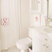 Monogrammed Shower Curtain - Traditional - bathroom ...