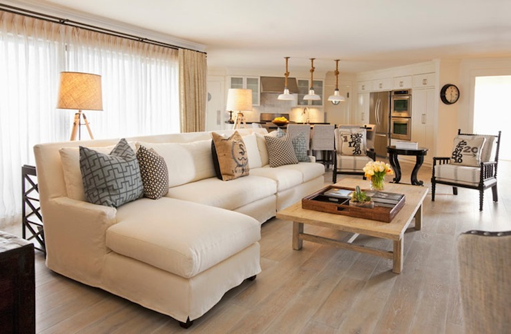 Sectional Design Ideas - white sectional living room