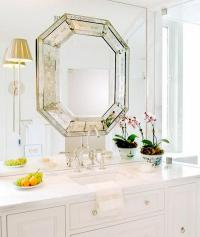 Octagon Mirror - Transitional - bathroom - Huntley & Company