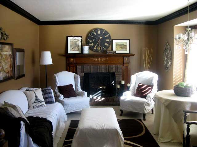 Black Beadboard Wallpaper Living Room