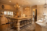 Oversized Kitchen Island - French - kitchen - Jean Randazzo