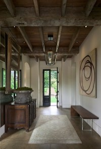 Rustic Exposed Beams Ceiling - Cottage - entrance/foyer ...