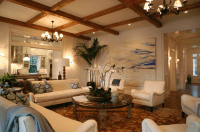 Living Room Wood Beams Design Ideas