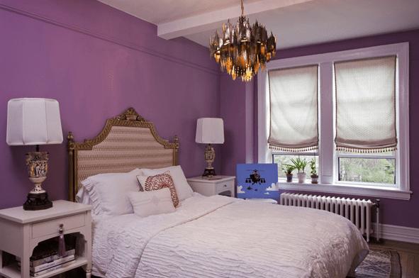 Pinterest Girls Kids Rooms With Wood Wallpaper Purple Walls Eclectic Bedroom Lauren Stern Design