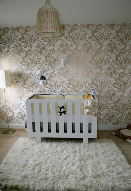 Black And Cream Damask Wallpaper Ferm Living Wilderness Wallsmart Wallpaper Contemporary